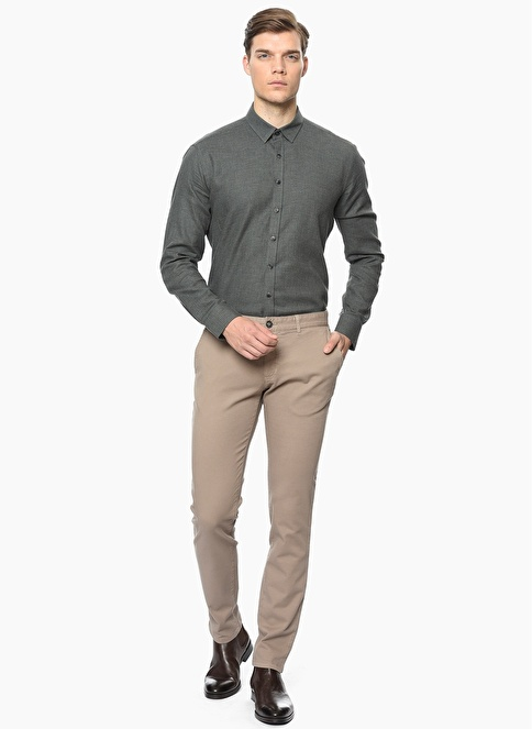 George Hogg Slim Fit Pantolon Vizon